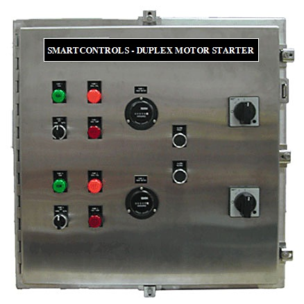 Duplex Manual Motor Starter W Start Stop Controls Pump